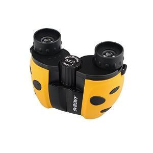 SVBONY SV33 双眼鏡 8倍 子供用望遠鏡 コンパクト 小型軽量 ドーム 自然観察 旅行 プレゼント (黄色)|skygarden
