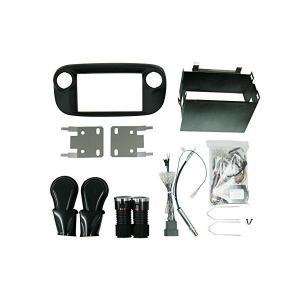 FIAT500 2DINキット(黒) F500-02BK-CAN TREDWORKS(トレッドワーク...