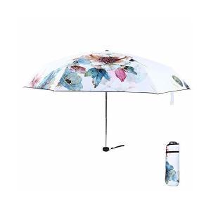 FJMOD 日傘 レディース 折り畳み傘 超軽量(200g) 折りたたみ傘 晴雨兼用UVカット99% UPF50+ 可愛い ミニ(17.5cm) 完 skygarden