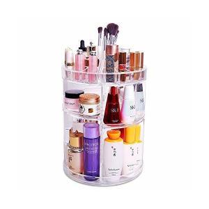 和馳 コスメ収納 メイクボックス 化粧品収納ボックス 大容量 360度回転可能 アクセサリー収納 女子へのギフト|skygarden