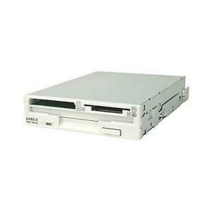 オウルテック FDD+カードリーダーBOX(取付ネジ付)USB2.0xDピクチャーカード(TypeM)対応スーパーW FA404MX(SW)/BOX|skygarden