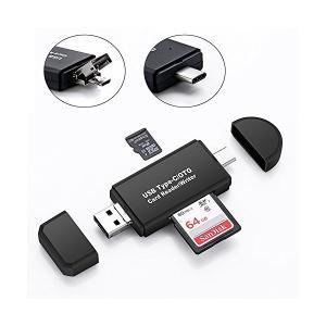 SDメモリーカードリーダー、Fooxon USB CタイプSD/Micro SDメモリーカードリーダーOTGアダプターである。小型軽量 変換アダプタ|skygarden