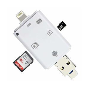 NUMATE-正規品 SDカードリーダー iOS・Android対応 メモリーカードリーダライタ iPhone /Micro USB/USB全対応メ|skygarden