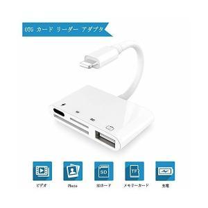 SDカードリーダー iPhone iPad専用Lightning SDカードカメラリーダー USBポート付 microメモリ SDカードカメラリーダ|skygarden