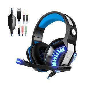 Beexcellent ゲーミングヘッドセット ps4 ヘッドセット PC ヘッドホン ヘッドフォン 360°調整できる高集音マイク付き ゲームヘッ|skygarden