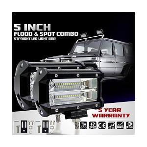 KaTur 5Inch 72W LEDライトバースポットビーム10800LLMオフロードフォグライトトラックピックアップジープSuv Atv Utv|skygarden