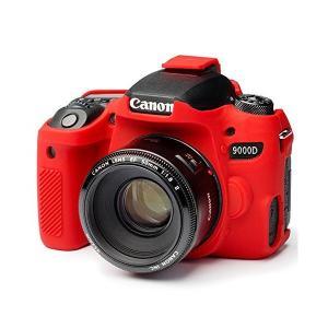 DISCOVERED イージーカバー Canon EOS 9000D用 カメラカバー レッド 液晶保...