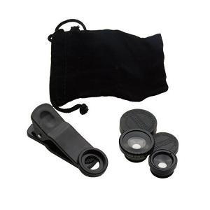クールモバイルカンパニー セルカレンズ3種類(魚眼・マクロ・広角レンズ)セット クリップ式 ブラック CSL-28B|skygarden