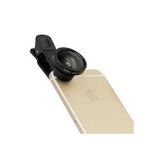 オウルテック iPhone各種スマートフォン対応 セルカレンズ 0.4倍率 超広角タイプ 収納袋付 ブラック OWL-MALENS02-BK|skygarden