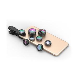 Akinger新作 7in1スマホカメラレンズキット(198度魚眼レンズ、15×マクロレンズ、0.36×超広角レンズ、0.63×広角レンズ、2×望遠|skygarden