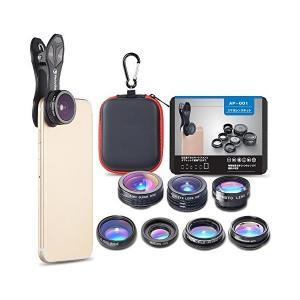 ActyGo (高品質セルカレンズ7点セット) 正規品 スマホレンズ カメラクリップ式 198°魚眼...
