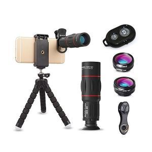 ActyGo (高品質HD18X望遠レンズ付きスマホレンズ4点セット) 正規品 Bluetooth ...