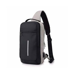 MURCIAS ボディバッグ ワンショルダーバッグ メンズ 大容量 軽量 USBポート付き 斜め掛け 撥水加工 ナイロン 盗難防止 ipad pro skygarden