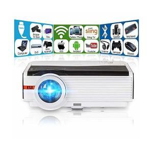 LED プロジェクター WIFI Bluetooth 4200ルーメン 1080P フルHD ホームシアター プロジェクター スピーカー内蔵 And|skygarden