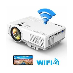 Jinhoo データプロジェクター 2400LM【WiFi接続可】スマホと直接に繋がる HDMI交換アダプターが不要 1080PフルHD対応 800|skygarden