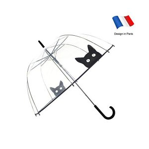 Smartbulle フランスのブランド 透明傘 長傘 ジャンプ傘 おしゃれ ドーム型 高強度グラスファイバー採用 梅雨対策 バブルアンブレラ 女用 skygarden