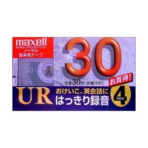maxell 録音用 カセットテープ ノーマル/Type1 30分 4巻 UR-30L 4P|skygarden