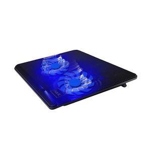 超冷却・静寂 大型ファン搭載 ノート パソコン 用 クーラー パッド ( 2 ファン 15.6インチ ブルー)|skygarden