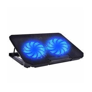 冷却パッド Hoshiki ノートパソコン冷却台 冷却ファン 超静音 2つUSBポート LED搭載 高度調整可能 5段階調節 高強度 滑り止め 頑丈|skygarden