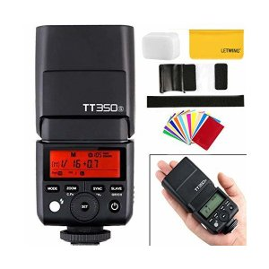 GODOX TT350S ミニカメラフラッシュ 内蔵2.4G 高速1 / 8000s GN36 TT...