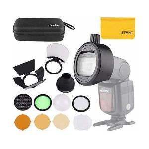 Godox S-R1アダプター付きGodox AK-R1丸型ヘッドアクセサリーは、Godoxカメラを...