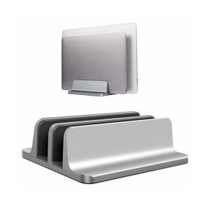 Becrowm ノートパソコンスタンド パソコンホルダー ノートPCスタンド 縦置き 2台収納 アルミ製 MacBook/iPad/laptop/タ|skygarden