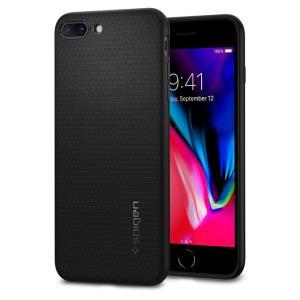 Spigen スマホケース iPhone8 Plus ケース iPhone7 Plus ケース 対応 TPU 米軍MIL規格取得 耐衝撃 リキッド・エアー 043CS20525 ブラック の商品画像|ナビ