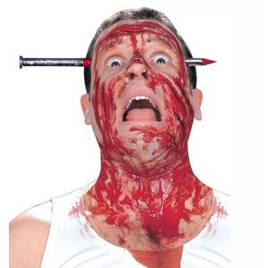 釘 カチューシャ  簡単 取付 ハロウィン コスプレ ヘアアクセ 仮装 ヘアバンド 頭に釘 貫通 ホラー 刺さる 頭 ヘッドバンド イベント|skyhy