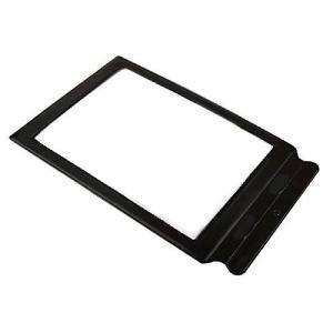シート ルーペ 拡大鏡 (A4 サイズ  持ち手付)虫眼鏡 シートレンズ カードルーペ 老眼 シート状ルーペ 文字を3倍に拡大 持ち手付 新聞や雑誌に最適|skyhy