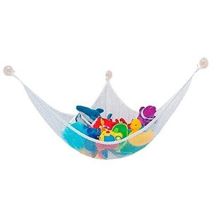 吊り下げ 式 ハンモック 片付け ネット おもちゃ 収納 ぬいぐるみ お風呂 子供 部屋 室内 用 収納|skyhy