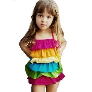キッズ水着 体型カバー スポーツ水着ビキニ 女児用水着 子供用水着 赤ちゃん水着 女の子水着バンドゥ ミツバチ (L) |skyhy