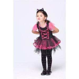 (ミミ コスチューム) Mimi Costume ハロウィン 女の子 ガール キッズ 子供 可愛い子猫 衣装 コスプレ衣装 コスチューム ダンス ワンピース (120)|skyhy