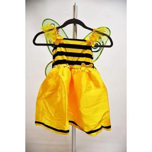 (ミミ コスチューム) Mimi Costume みつばち ハロウィン コスプレ コスチューム 子供 キッズ サイズ ハチ ミツバチ 衣装 120 女の子 妖精 子供用 蜂 |skyhy
