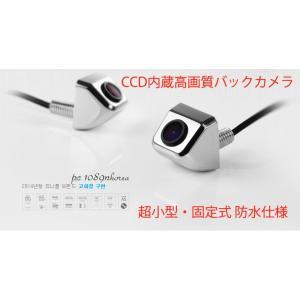 超小型CCDバックカメラ クローム ナンバープレート、ネジ穴固定式 防水仕様  RL2000|skynet