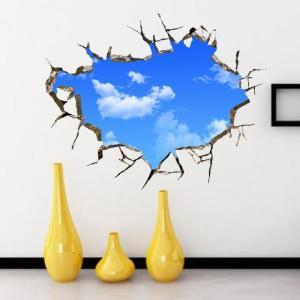 ウォールステッカー 青空 部屋の広々感を演出 ゆうメールの場合送料無料 WS8017|skynet