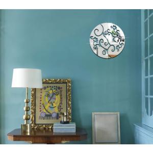 ウォールデコレーション 鏡面花模様 立体 ウォールステッカー 壁飾り 簡単設置 3D1327|skynet