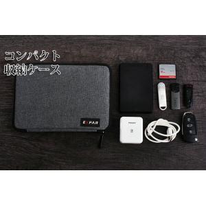 万能収納ポーチ  パソコン、携帯周辺小物 ケーブル ハードディスク USBメモリ ACアダプター ペン SDカード 等の整理 EXFAR001|skynet
