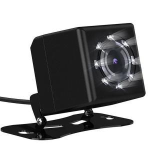 小型防水バックカメラ 8LED搭載 暗視抜群 IP67 広角 12V専用 高品質CMOSレンズ ( ブラック )  BK810|skynet