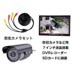 7インチDVRモニター+20mケーブル+CCTV防犯 3点セット 録画機能 SDカード対応 録画したデーターそのままモニターで再生可 OMT70DVRDC101BSET|skynet