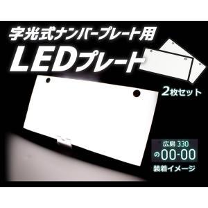 字光式ナンバープレート用LED お得な2枚セット 全面発光 12V専用 薄型 LED307|skynet