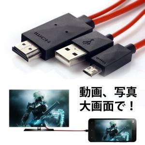 MHL変換ケーブル 1080P対応 2m microUSB-HDMI変換 スマホやタブレットの動画をテレビ大画面で鑑賞 給電用USBケーブル付 MHL 5pinタイプ専用 MD5PIN|skynet|02