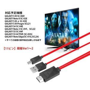 MHL変換ケーブル 1080P対応 2m microUSB-HDMI変換 スマホやタブレットの動画をテレビ大画面で鑑賞 給電用USBケーブル付 MHL 5pinタイプ専用 MD5PIN|skynet|06