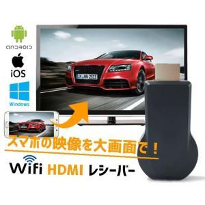 HDMIドングルレシーバー スマホの映像を大画面で Wifi ワイヤレス ミラーリング 1080P 無線 iPhone/Android/Mac/Windows対応 Airplay テレビに表示 ANYC1080|skynet
