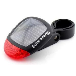 自転車用ソーラー充電式ランプ LEDテールランプ 電池不要 高輝度LED2灯 防滴仕様 点灯モード3種類 夜間の走行を安全に 省エネエコーテールランプ 自転車 STL45|skynet