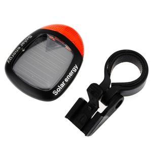 自転車用ソーラー充電式ランプ LEDテールランプ 電池不要 高輝度LED2灯 防滴仕様 点灯モード3種類 夜間の走行を安全に 省エネエコーテールランプ 自転車 STL45|skynet|03