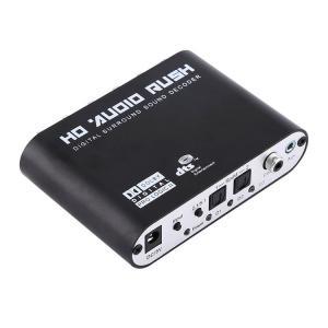 5.1ch対応アナログオーディオデコーダ DTS/AC-3/Dolbyデジタル等をアナログ変換 6RCA出力 S/PDIFデジタル音声コンバーター 同軸/光ケーブル両対応 DTS51
