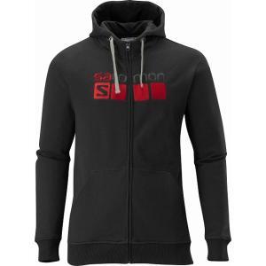 【SALOMON/サロモン】 Salomon Logo HOODIE M Black / サロモンロゴ フーディーズ メンズ ブラック 【棚NEW】|skytrail