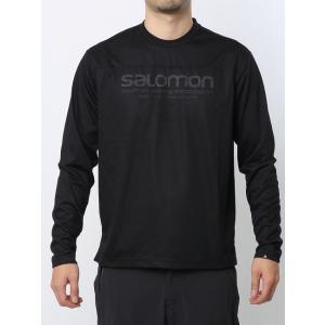 【SALOMON/サロモン】 JP LOGO LS TECH TEE Black / JPロゴ 長袖シャツ ブラック 【棚NEW】|skytrail