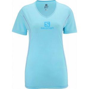 【SALOMON/サロモン】 JP STROLL LOGO TEE W Clear Water blue / JPストロールロゴティーウィメンズ クリアウォーターブルー 【棚NEW】|skytrail