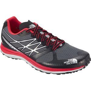 【TNF/ノースフェイス】 Ultra Trail Shoes GR / ウルトラ トレイル シューズ ダークシャドウグレー×TNFレッド 【棚NEW】 skytrail